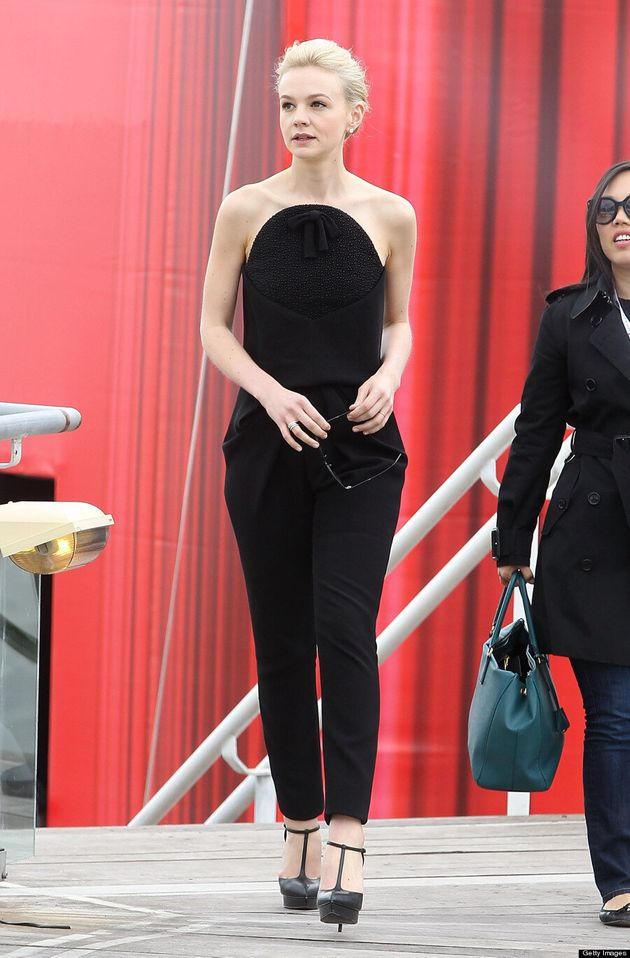 Carey Mulligan At Cannes 2013: 'Great Gatsby' Actress Wears Balenciaga Jumpsuit At Photo Call (VIDEO,