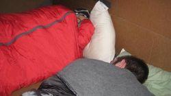 LOOK: Alberta Students Brave Cold In Giant Cardboard