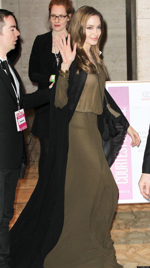 Angelina Jolie At Women In The World Summit: Wears 'Maleficent'-Like Robe (VIDEO,