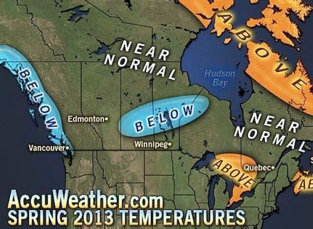 BC Spring Weather Forecast 2013 Predicts Cold, Wet