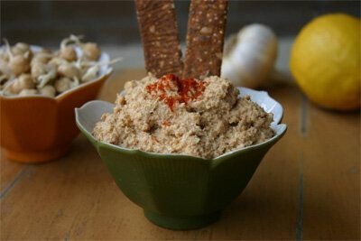 Raw Sprouted Chickpea Hummus