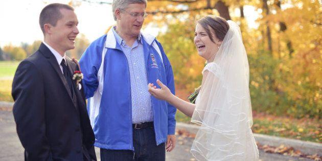 Harper Wedding Photos: PM Surprises Ottawa