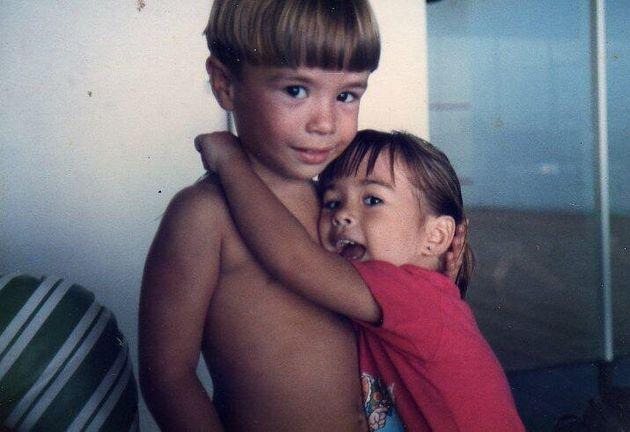Os irmãos Diego e Talita