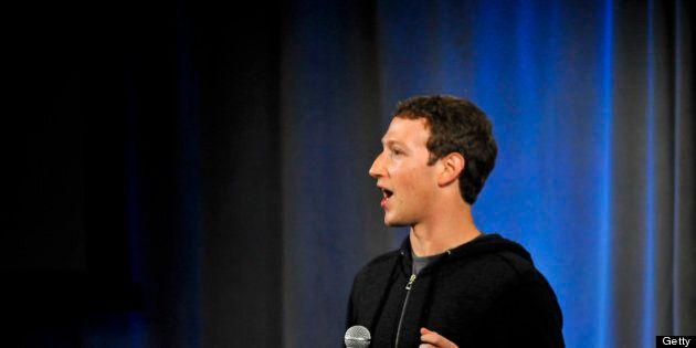 Facebook CEO Mark Zuckerberg speaks during a media event at Facebook's Headquarters office in Menlo Park,...