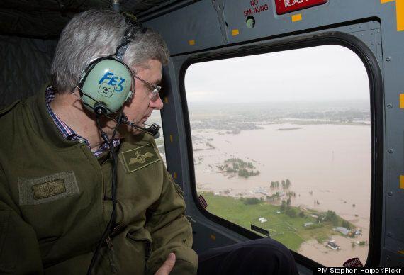 Alberta Flooding: Stephen Harper Visits A Submerged Province (PHOTOS,