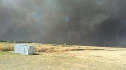 LOOK: High Winds Fuel Dangerous Fire Near