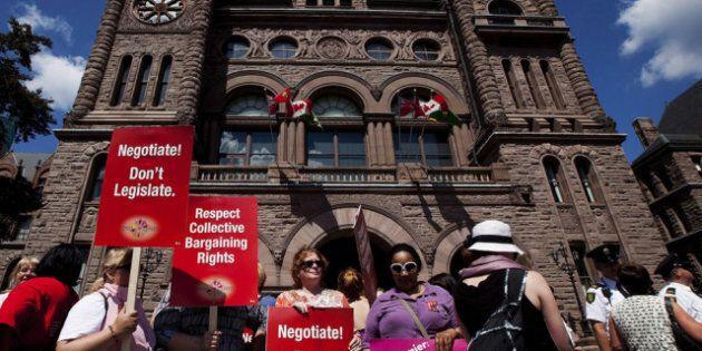 Ontario Teachers Bill Passed: After Anti-Strike, Wage Freeze Bill Passes, Unions Fight