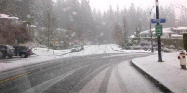 Snow Hits B.C.'s South