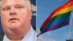 WATCH: Rob Ford Finally Goes To Pride