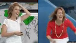 WATCH: Weather Anchor Attacked By Bugs