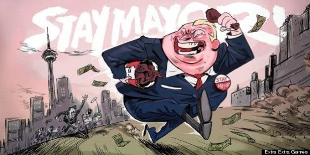 'Stay Mayor' Video Game Lampoons Rob Ford 'Crack Video'