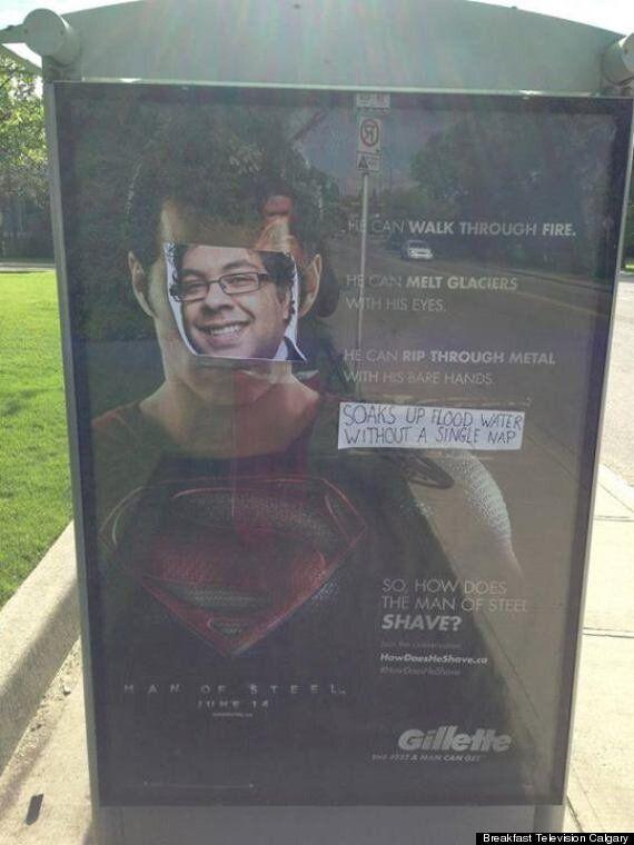 Naheed Nenshi's Bus Stop Superman Ad Champions 'Super Nenshi'