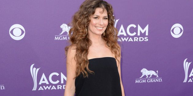 LAS VEGAS, NV - APRIL 07: Musician Shania Twain arrives at the 48th Annual Academy of Country Music Awards...