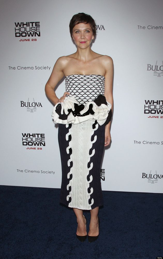 Maggie Gyllenhaal's 'White House Down' Dress Raises Eyebrows
