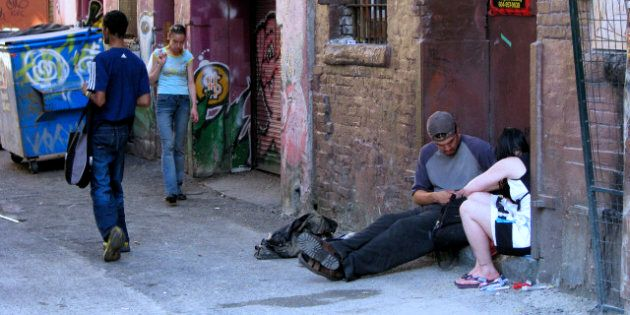 Description 1 Typical scene in an alleyway, in the downtown eastside ghetto of Vancouver BC Canada. |...