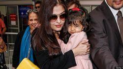 Aishwarya Rai Hangs On To Daughter At