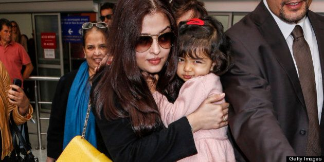 NICE, FRANCE - MAY 17: Aishwarya Rai seen at Nice airport during the 66th Annual Cannes Film Festival at Nice Airport on May 17, 2013 in Nice, France. (Photo by Jeffrey Bright/FilmMagic)