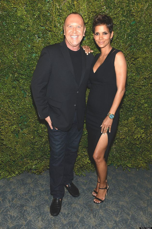 Pregnant Halle Berry Reveals Baby Bump In Sexy Black Dress