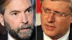 Harper's 'Afraid', Mulcair