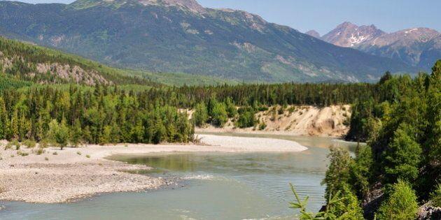 Skeena River and Kitimat Ranges, British Columbia, Canada, North
