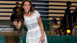 Kate Middleton Rocks A $60 Frock While Playing Table