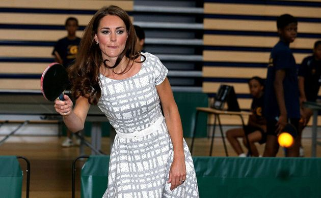 Kate Middleton Dons Body-Hugging Dress While Playing Table Tennis At Pre-Olympic