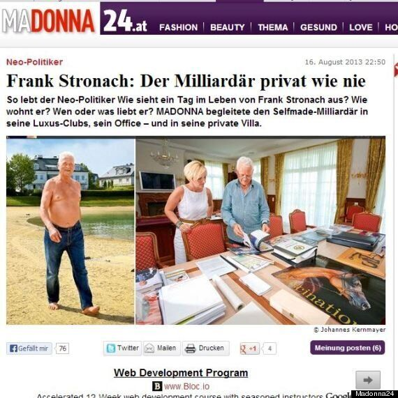 Frank Stronach Topless Photos Are, Well, He's