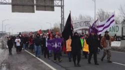 Mohawk Idle No More Protest Blocks Traffic In