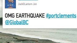 BC #Earthquake: Twitter Reports And