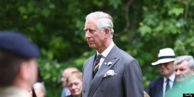 LONDON, ENGLAND - JUNE 27: Prince Charles, Prince of Wales takes a royal salute after presenting Operational...
