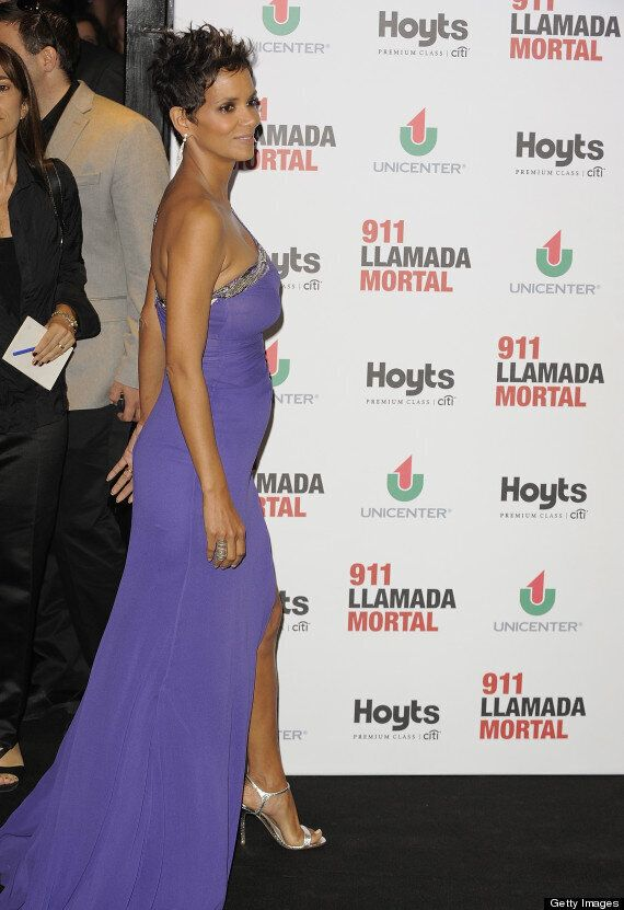 Halle Berry Pregnant: Actress Flaunts Baby Bump In Figure-Hugging Purple Dress