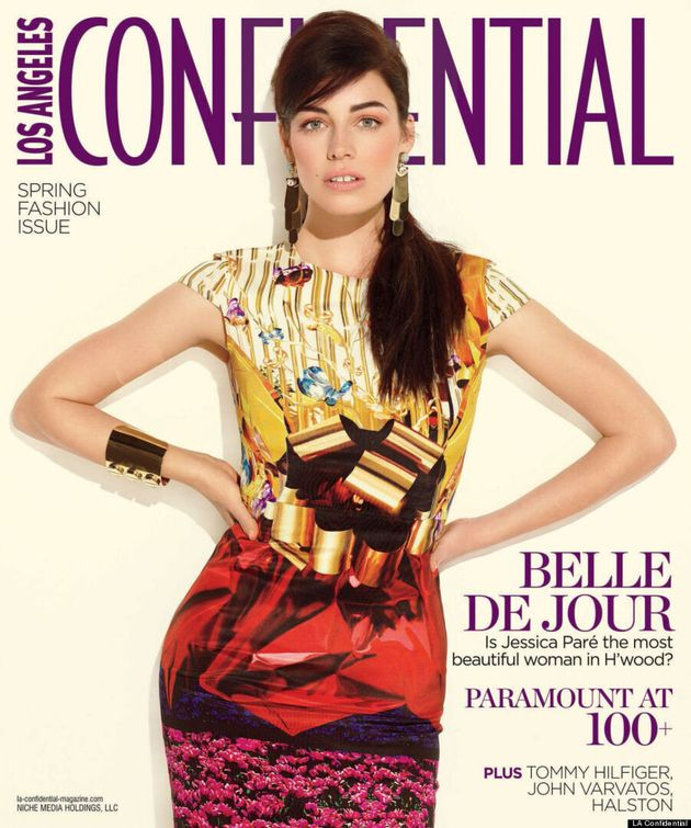 Jessica Paré Covers LA Confidential: 'Mad Men' Star Is Beautiful In Print Dress