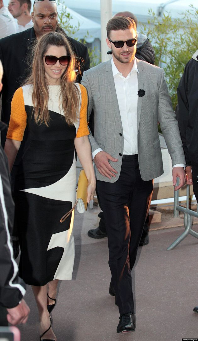 Jessica Biel's Cannes 2013 Dress Jumps On Black And White Trend