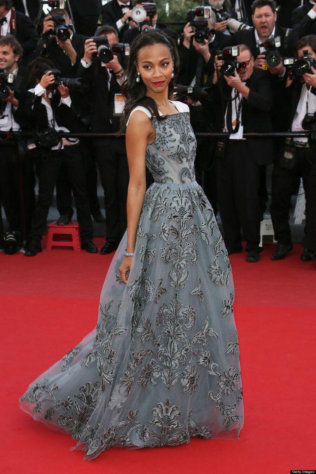 Zoe Saldana's Cannes 2013 Dress Channels Shades Of Grey