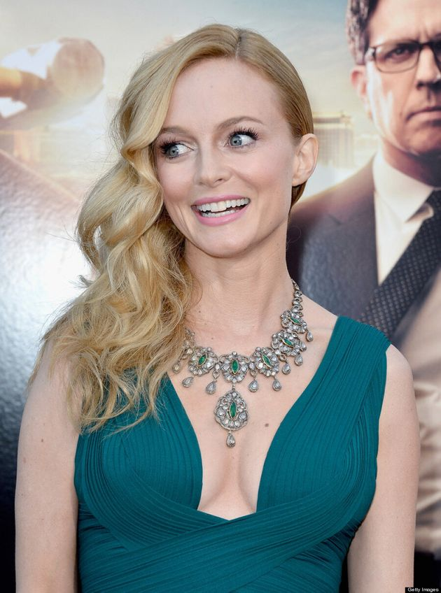 Heather Graham's 'The Hangover Part 3' Dress Reveals Cleavage At Premiere