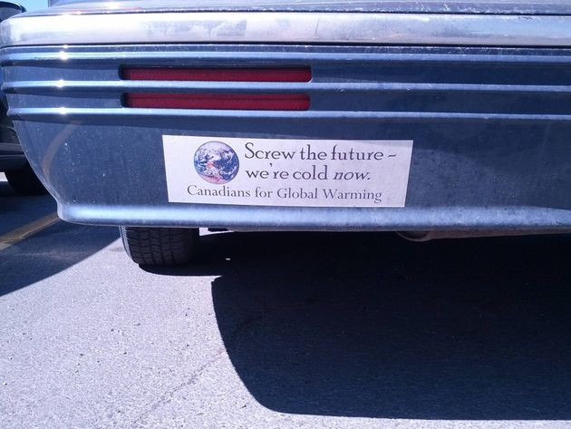 Canadians For Global Warming Bumper Sticker Is Just Wrong
