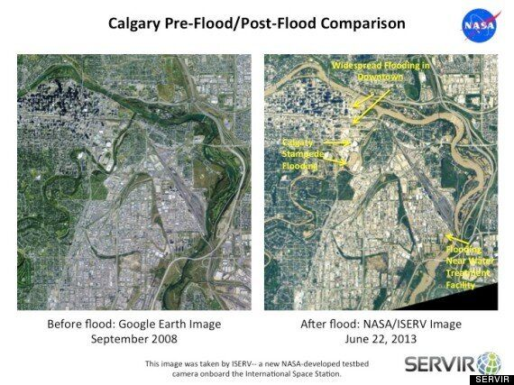 Calgary Flood As Seen From Space
