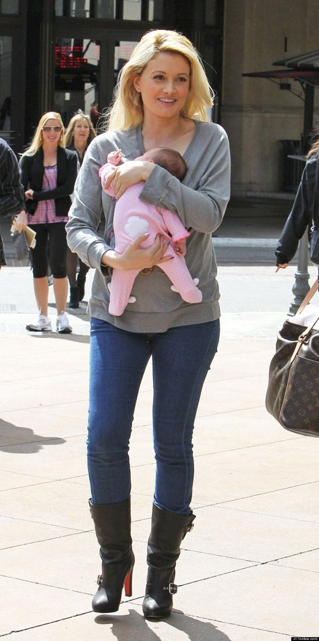 Holly Madison Steps Out With Baby: Playboy Playmate Flaunts Svelte Figure