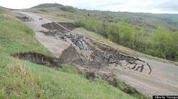 Landslide Sweeps Away Alberta