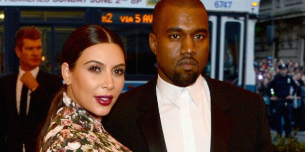 NEW YORK, NY - MAY 06: Kim Kardashian and Kanye West attend the Costume Institute Gala for the 'PUNK:...