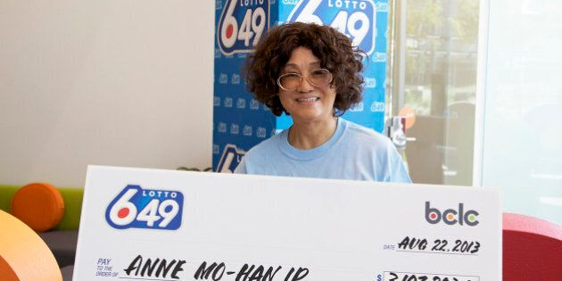 Anne Ip Lottery Winner From Burnaby, B.C. Collects $3.2