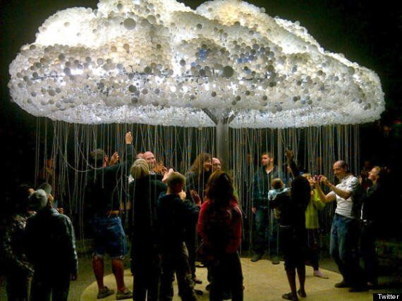 Nuit Blanche Calgary: Giant Light Bulb Cloud A Hit At City's First Ever Nighttime Festival