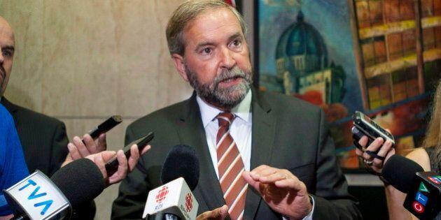 NDP Leader Tom Mulcair Launches Anti-Senate