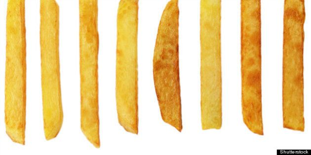 french fries isolated over