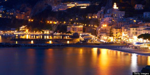 Amalfi night view.