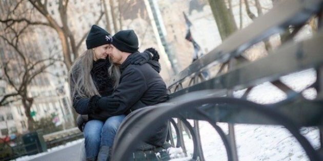 Real Engagement Photos: Winter Shoot in Central