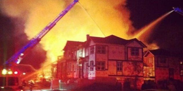 McKenzie Towne Fire: No One Hurt As Condo Building Burns To The Ground