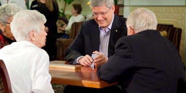 Harper Seniors Home Visit Sees PM Brush Up On Cribbage