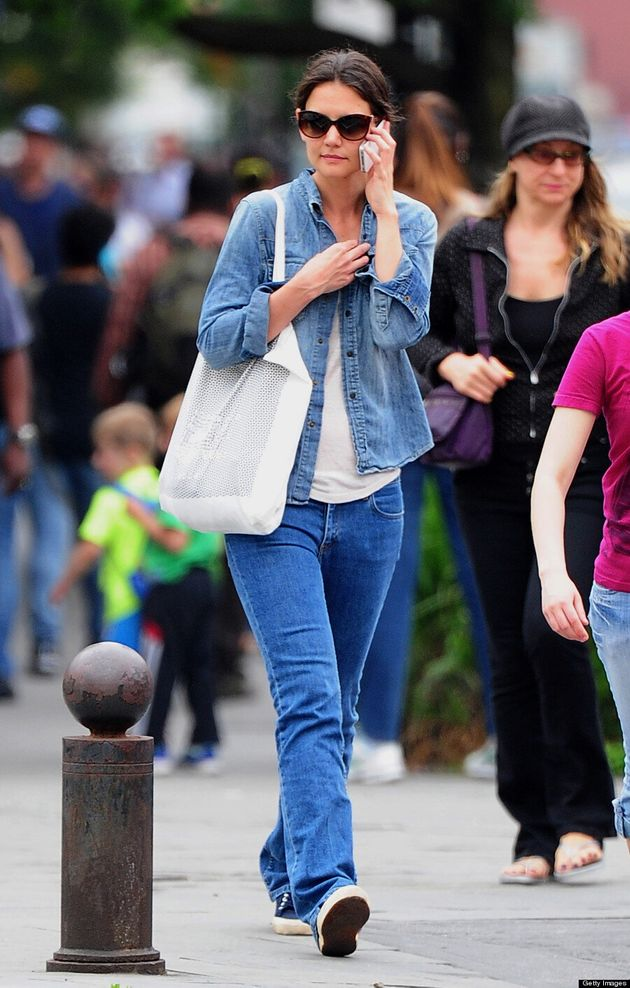 Katie Holmes' Canadian Tuxedo: Tom Cruise's Ex Wears Double Denim