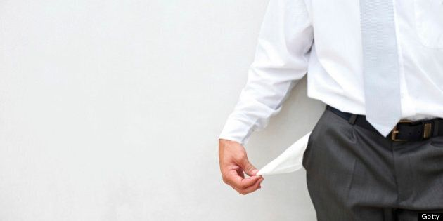 Close-up of businessman with pocket